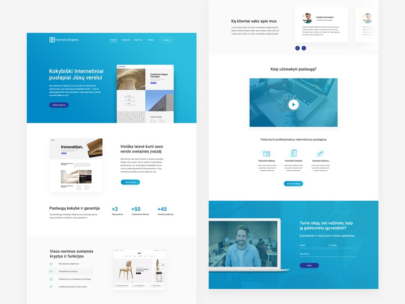 Internet Step website web minimal layout ux ui website web design