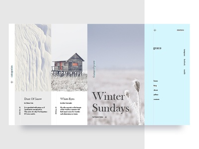 Winter Sundays blog UI blog light art clean minimal photography gallery layout inspiration web ui