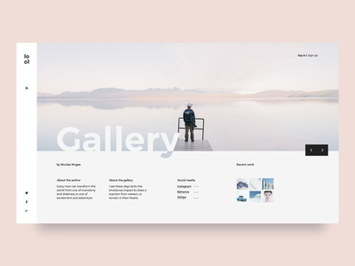 Photography gallery UI inspiration light pastel clean minimal photography gallery ux layout web ui