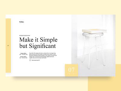 Event presentation UI website furniture interior clean minimal photography event ux layout inspiration web ui