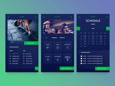 Mobile UI for training classes website dark mobile clean minimal fitness gym ux layout inspiration web ui