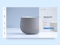 Shop login UI