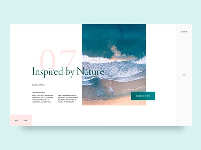 Photography blog UI typography nature blog website clean minimal photography gallery ux layout inspiration web ui