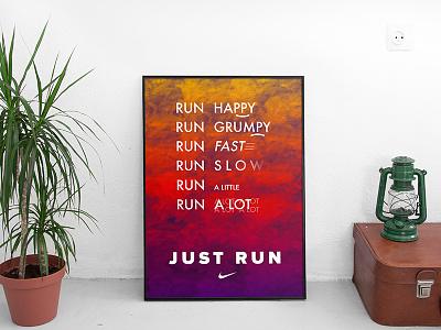 Nike Typography Poster typography poster nike poster poster typography nike