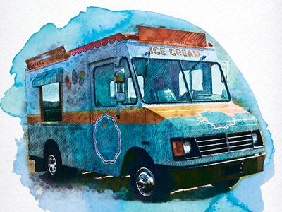 Jeni's Ice Cream Truck at Jungle Jim's-detail