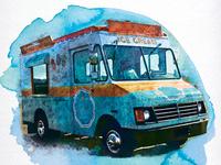 Jeni's Ice Cream Truck at Jungle Jim's-detail graphic design poster art lettering illustration poster watercolour watercolor ice cream truck ice cream shop icecream food truck market grocery jungle jims jenis ice cream