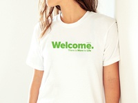 Welcome logo on tshirt