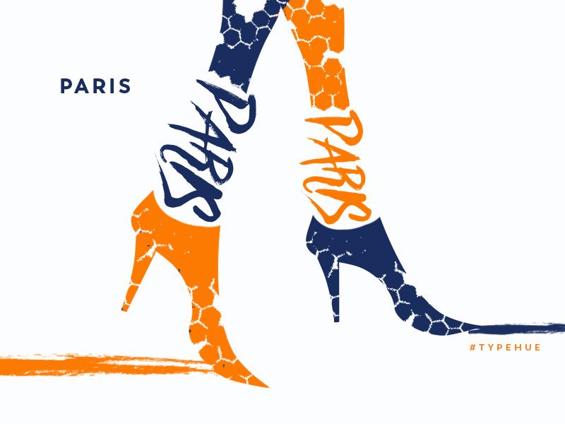 The City of Lights fashion illustration typography typehue city urban paris