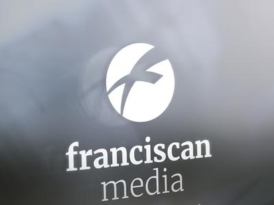 Franciscanmedia Signage logo identity christianity christian graphic design branding typography catholic