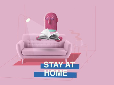 Stay At Home stayhome covid19 quarantine collage illustration