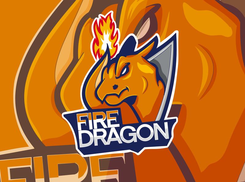 Dragon vector illustration esports logos branding vectors fire dragons