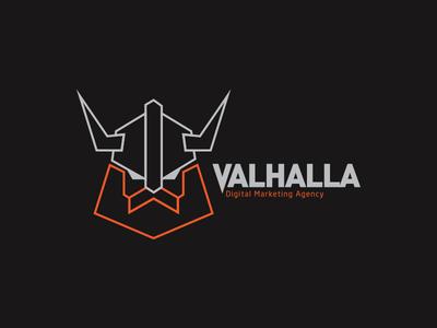 Valhalla logo final agency viking logo