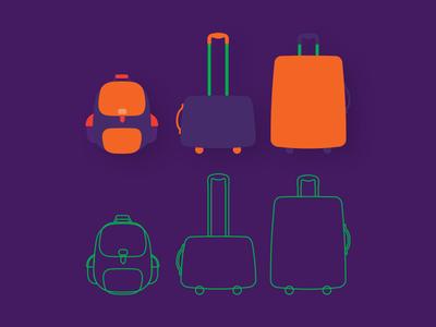 Bag Icons branding airlines icon plane anadolujet jetgenç