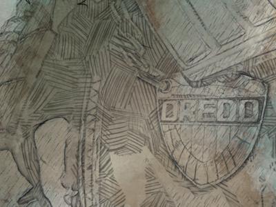 Judge Dredd#1 gift comic law judge dredd drawing poster illustration