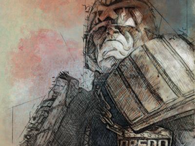 Judge Dredd#2 gift comic kyle brushes poster challenge judge dredd illustration