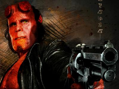 Hellboy Sketch wacom intuos kyle brushes comic hellboy poster illustration