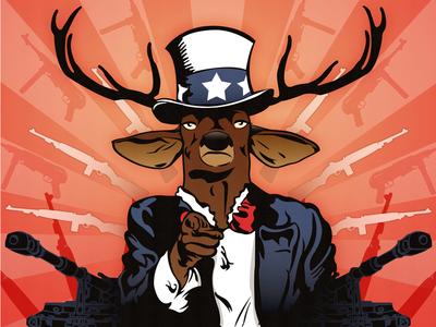 My Deer Uncle Final illustration poster uncle ben