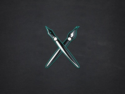 Personal Logo logo brush pen personal black canvas