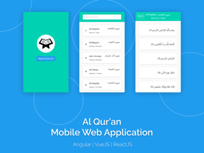 Al Qur'an Mobile Web Application with Angular, Vue