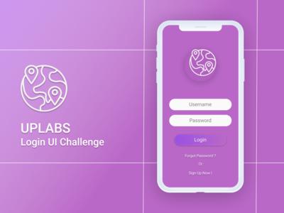 Login Ui Challenge - Uplabs