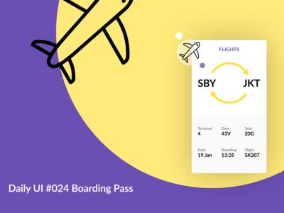 Boarding Pass #024 Daily UI Challenge