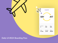 Boarding Pass #024 Daily UI Challenge