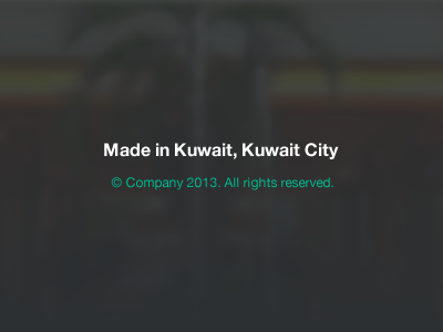 Made in.. footer made in kuwait kuwait city ui
