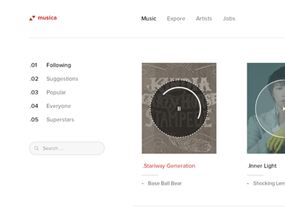 Dribble for music a dribbble for music