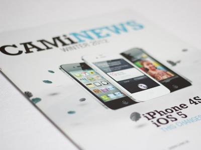Cami editorial brochure print design