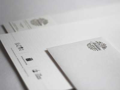 Gardens of Aromates stationery design print brochure website logo identity