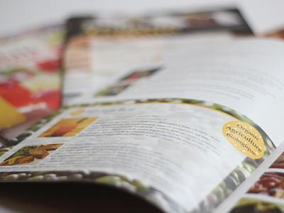 Le Pain Quotidien editorial brochure print design