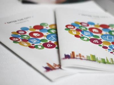 Ville De Bruxelles editorial brochure design identity logo internet information institutional