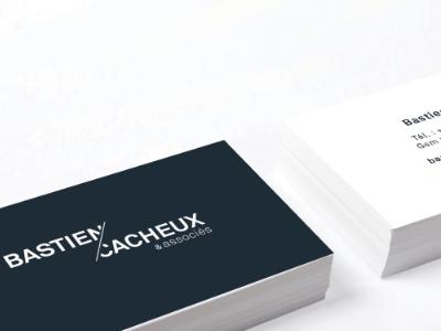 Bastien Cacheux business cards identity