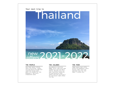 Roboto Mono & Montserrat font pairing tailandia viajes brochure thailand trips google fonts fonts montserrat roboto mono
