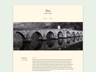 Eva porfolio webdevelopment blog webdesign