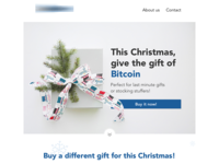 Landing page for Christmas campaign
