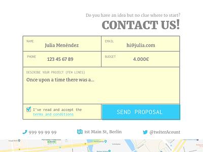 DailyUI #028 - Contact us dailyui 028 028 dailyui daily ui form contact us contact us form