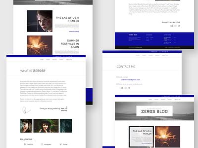 WordPress blog theme white electric blue clean template blog theme blog wordpress theme