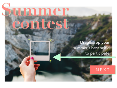 DailyUI #031 - File upload contest photograph summer polaroid upload file upload daily ui dailyui 031 dailyui 031