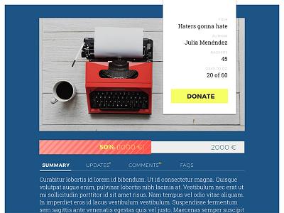 DailyUI #032 - Crowdfunding Campaign dailyui 032 032 dailyui daily ui donations crowdfunding crowdfunding campaign