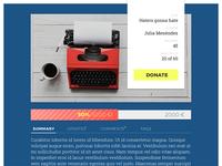 DailyUI #032 - Crowdfunding Campaign