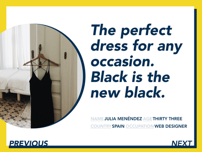 DailyUI #039 - Testimonials blue yellow design webdesign fashion avenir dailyui 039 dailyui testimonial