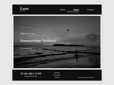 Lana - WordPress theme photography portfolio development design wordpress webdesign