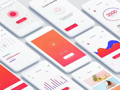 Mobile Fitness Dashboard - Freebie ux simple sketch mobile ios freebie free dashboard colour clean app