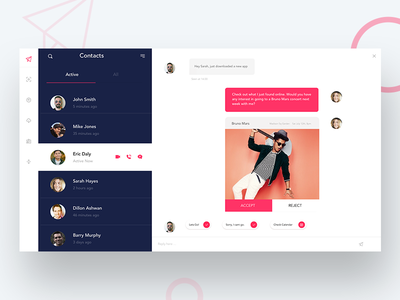 Daily UI Challenge #013 - Direct Messaging Part 2 app  type web  ux  branding  app  vector  icon  typography ui dailyui design