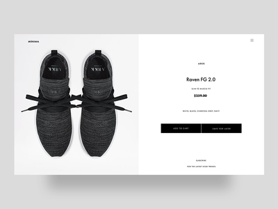 eCommerce Product Page typography checkout shoe swiss minimal store product ecommerce ux ui