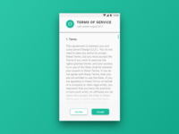 Daily UI #089 Terms Of Service