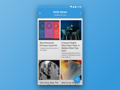 Daily UI #091 Curated For You