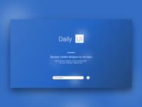 Daily Ui #100 Daily Ui Landing Page