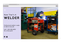 Welding Landing Page
